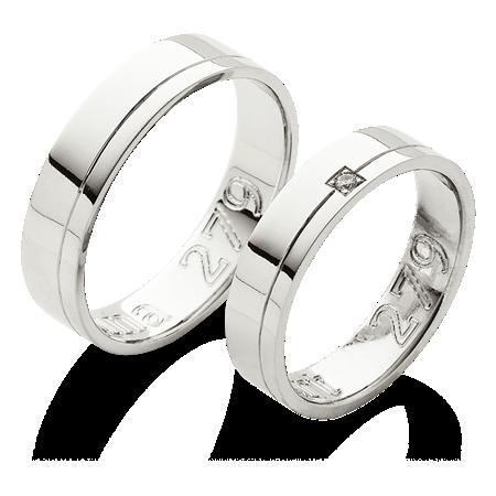 Hladke Snubni Prsteny S Jednou Linkou